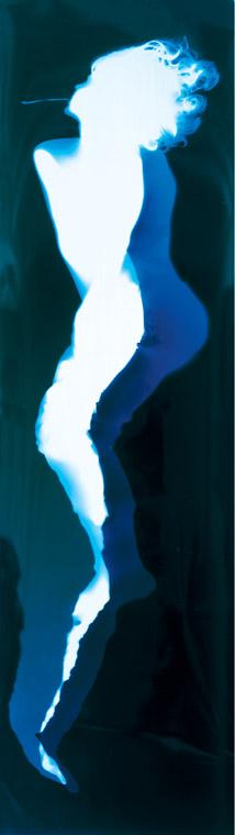 102 x 30 inches, Light on photo paper, unique. ©1993